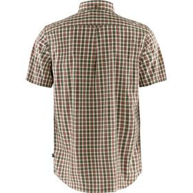 Fjällräven Övik Camisa Manga Corta Hombre, beige/marrón